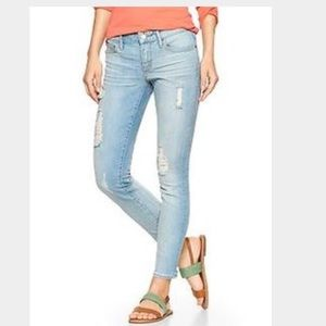 $69.50 GAP Always Skinny Distressed Ankle Jeans